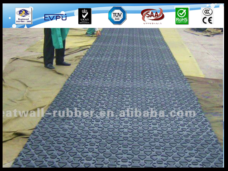 19mm thickness comfortable horse  rubber matting roll