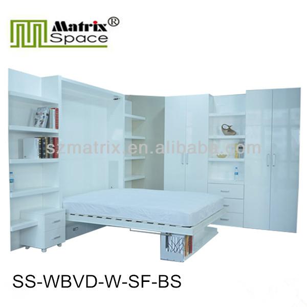 hohe g l doppelfaltschlie e klappbett verborgen wand. Black Bedroom Furniture Sets. Home Design Ideas