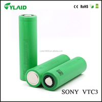 High quality 18650battery for sony VTC3 3.7V 1600mah rechargeable li-ion battery for electric cigarette