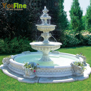 Hot sales modern white marble tiers water fountain