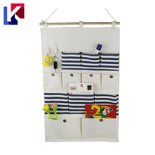 Household hanging toy drawstring storage organizer bag pouch