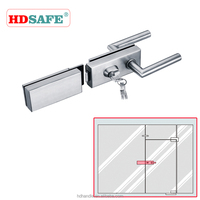 Stainless steel security locks for glass door