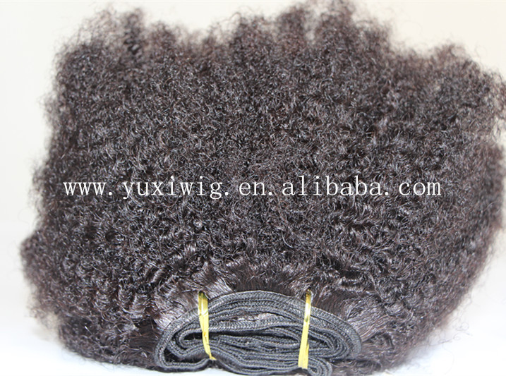 Top quality wholesale afro kinky curly human hair 100% unprocessed raw virgin hair