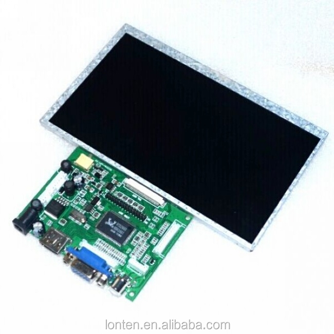 New 7 inch Raspberry Pi IPS <strong>LCD</strong> With HDMI VGA AV Screen Display Module For Pcduino Banana Pi 800x480