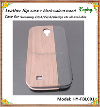 Smart Cover Flip Leather Wood Case for Samsung Galaxy S4 MINI SIV i9500