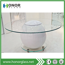 fabricated glass tops on dining table bases and occasional table bases