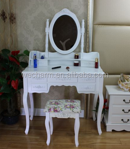 French style home furniture mirrored makeup dressing table