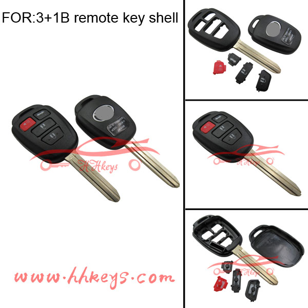Keys for Toyota yaris Remote Key with 433mhz uncut Keys best quality of toyota rav4