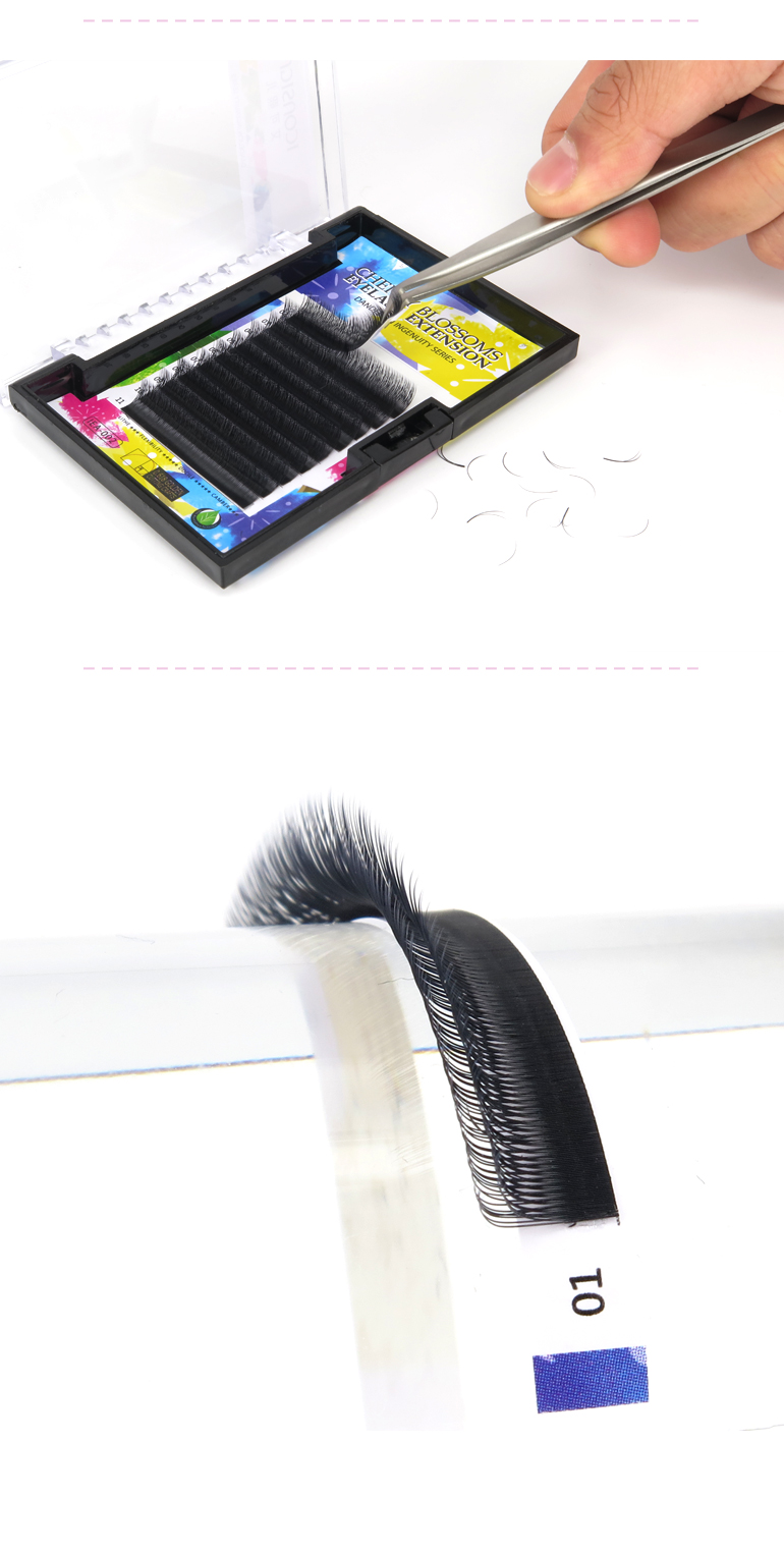 2017 Double Layer Lashes Super Soft Volume Eyelash Extension