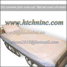 Nonwoven disposable bed cover with elastic
