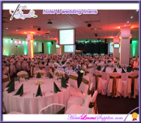 indian wedding decorations for sale-white table linens and chair covers from China factory