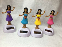 promotion gift solar powered toys solar powered dancing hula girl, car decorative gift sun doll factory wholesale