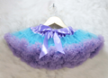 Fashion Baby Girls two-tone Fluffy Chiffon Princess Ballet Dance Tutu Pettiskirt