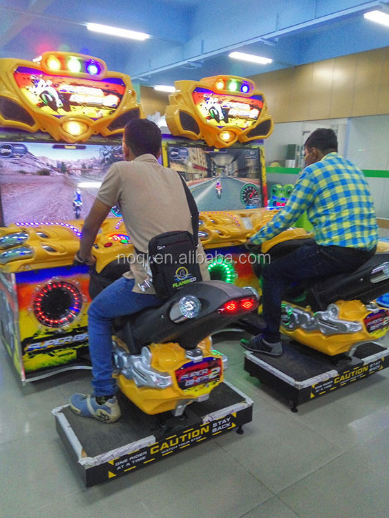 NQR-B03 coin operated car racing game machine video arcade games super bike racing game machine for sale