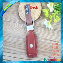 Custom 16GB usb flash memory stick new design usb corporate gifts pu leather usb flash drive