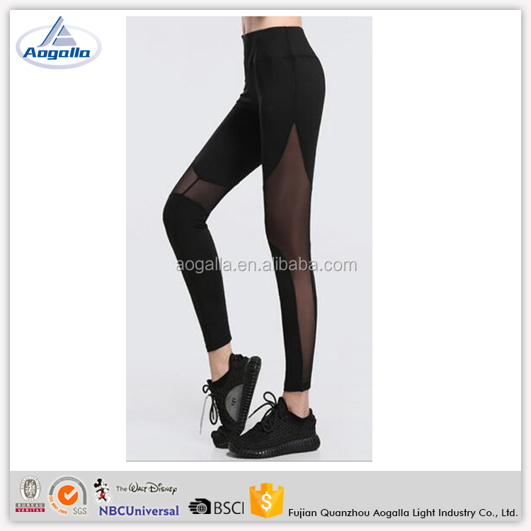New Wholesale Spandex/Polyester Custom Mesh Women Fitness Yoga leggings Low Rise Unique Pants