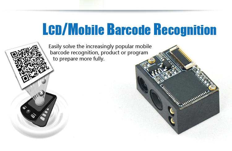 Embedded CMOS 2D Flatbed Barcode Scanner with 4mA Standby Current