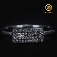 2016 simple design romantic wedding pure silver rings for men and women