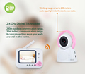 "3.5"" screen baby monitor wireless baby phone VOX function night vision"