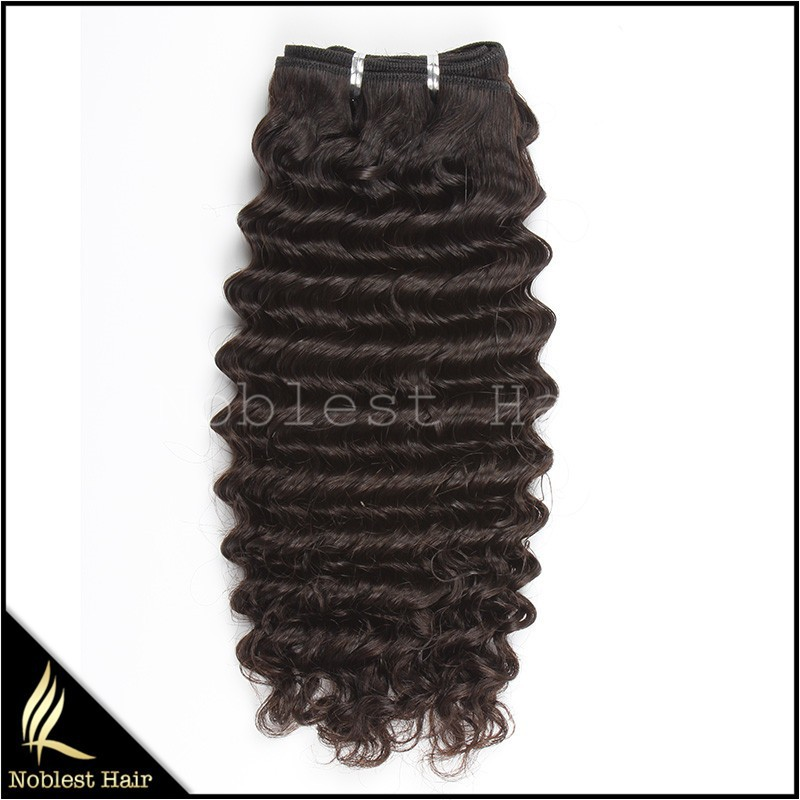 fashion grade 7a deep wave unprocessed wholesales virgin wavy malaysian hair extensions