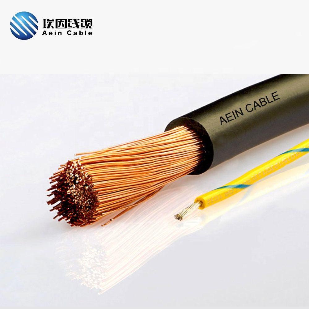 Flexible bare Copper Conductor <strong>H07V</strong>-<strong>K</strong> black wire <strong>cable</strong> CE Building Wire120sq mm