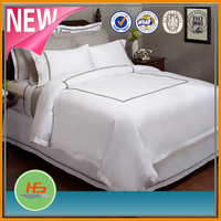 100% cotton white luxury hotel bed linen / bedding set / bed sheets