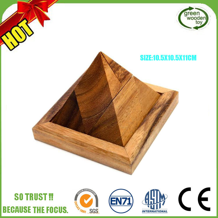 2017 Pyramid Diy 3d Puzzle Jigsaw Puzzle,Wooden Triangle Pyramid ,Wood Pyramid Puzzle