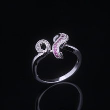 2017 new fashion letter m ring manufactured in china