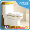 Hot sale color toilet ceramic bathroom sipphonic one piece toielt