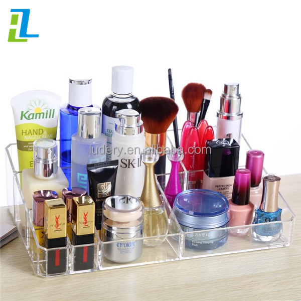 Transparent China Factory High quality 6 drawer acrylic makeup organizer