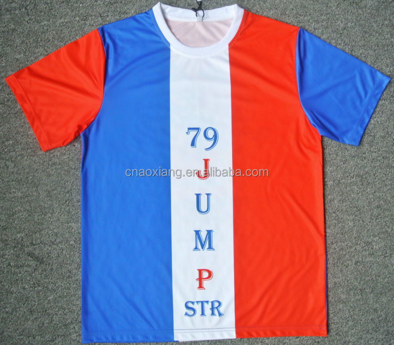 Fashion and colorful sublimation Graphic printing Tshirt and jersey