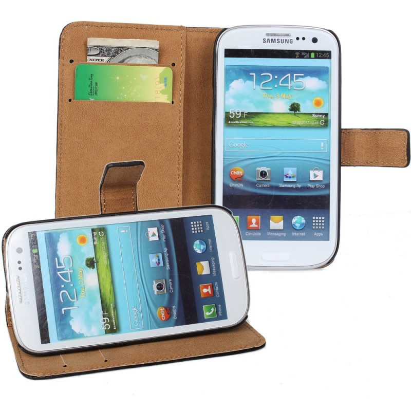 Vatop Cell Phone Cases for Samsung Galaxy s3 i9300, Wallet Pattern Leather Galaxy s3 Cases with Card Slot