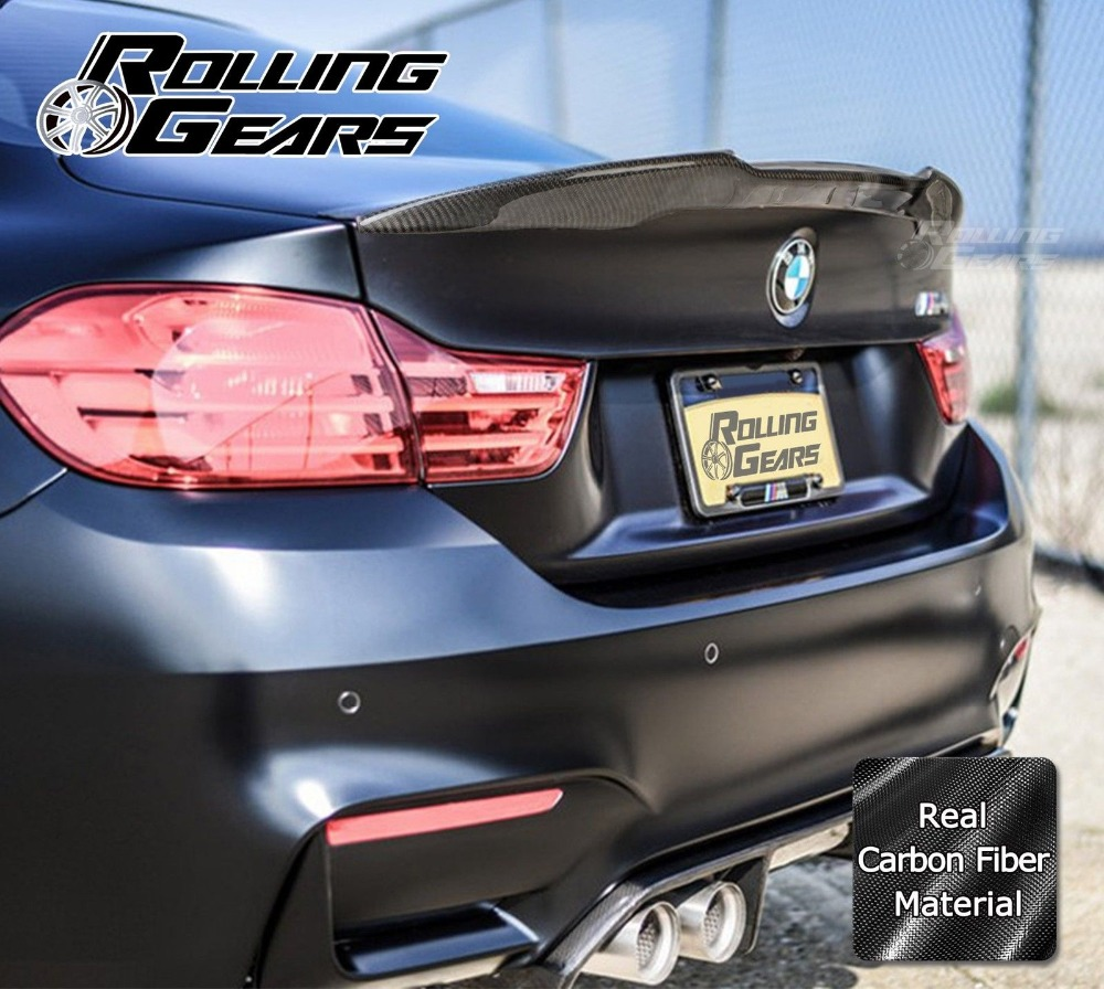 Carbon Fiber Rear Boot Trunk Spoiler For BMW F82 M4 Coupe 2D P Performance Type