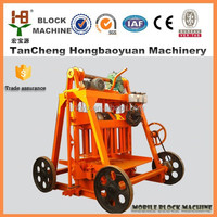 QT40-3B Portable hollow brick making machine/mobile concrete block making machine price