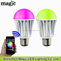 zhengji lighting LED Magic Color Android ISO RGBw Bluetooth magic LED Bulb
