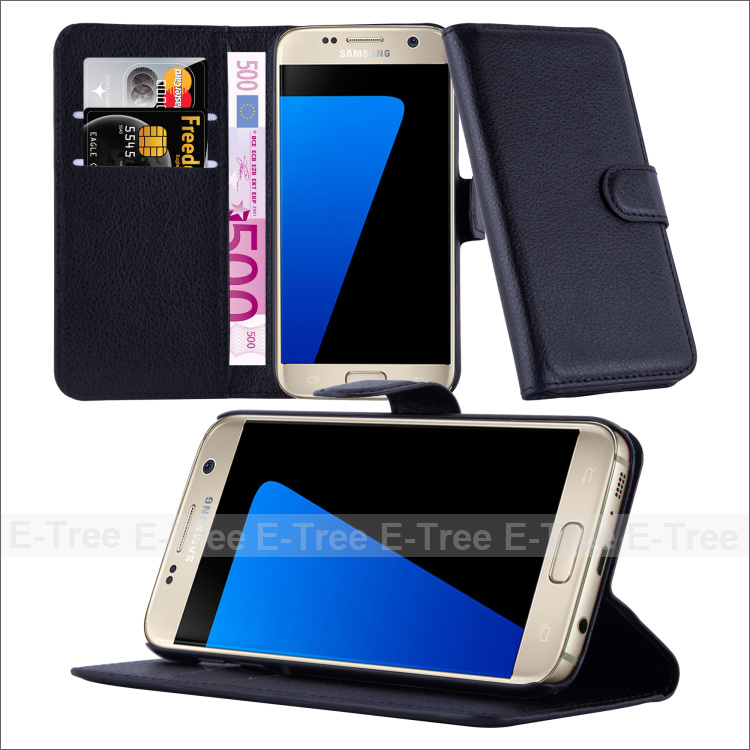 pu leather wallet flip case cover for samsung galaxy s7 mobile phone, for samsung galaxy s7 case with card slot