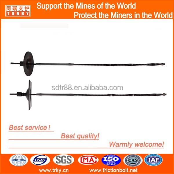 black 17.8mm bulbed enlarged anchoring Cable bolt for railway