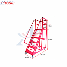 folding adjustable 4 step ladder with safety rail