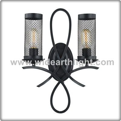 UL CUL Listed Hotel Vintage Wall Mounted Decorative Lighting With Metal Mesh Shade W40408