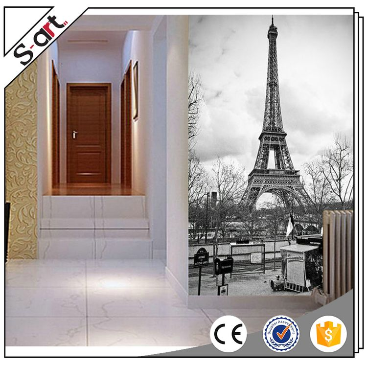 High quality best price wall paper 3d mural landscape