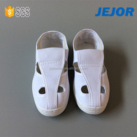Pu Sole Canvas 4 Holes Antistatic Shoe Esd Shoes