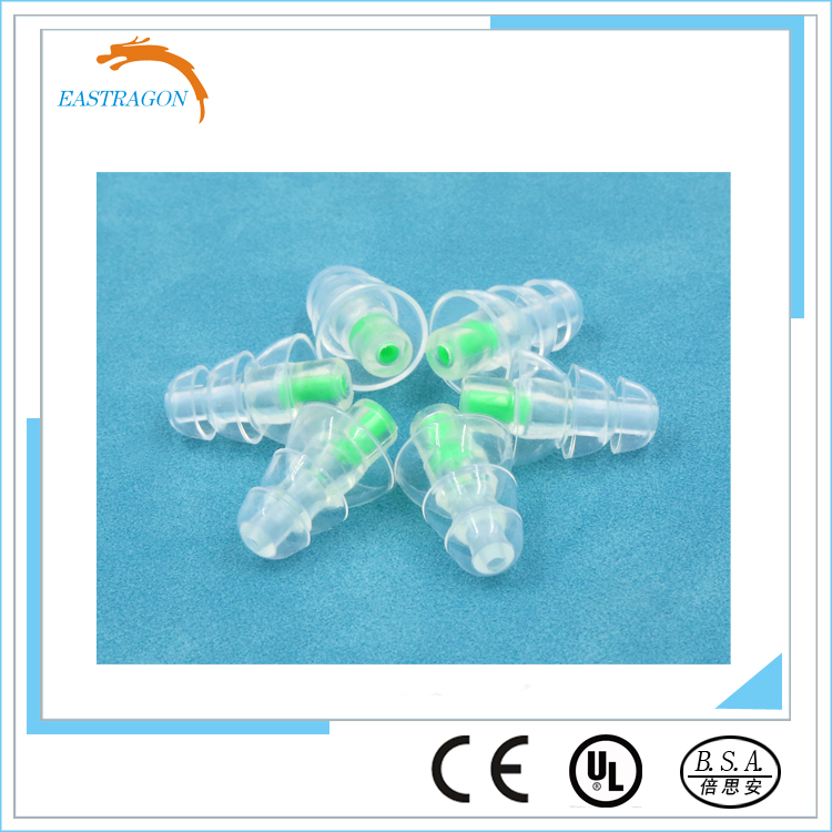 Custom Logo Bulk Noise Reducing Silicone Ear Plugs with Filter