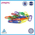 Hot selling PVC blister package plastic coated colorful decorative shaped stationery paper clips for office