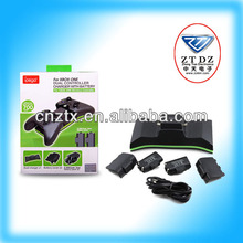 2014 New for XBOX ONE controller with 700mah rechargeable battery pack dual charger station