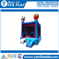 Happy face inflatable bouncy castle with water slide Cheap combo jumping castle inflatable castle