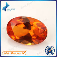 4*6mm oval machine cut 25# orange ruby synthetic on sale