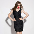 OEM fashion latest ladies summer sexy dress , wholesale women wholesale lace sleeveless dress