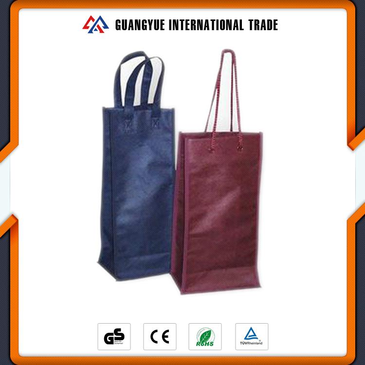 Guangyue Bulk Buying Durable Wine Gift Promotional Non Woven Bottle Bag