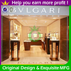 High-end jewelry shop names with jewelry display stand and cabinet