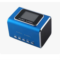 Music Angel JH-MD05X Portable Speaker Mini Bass Cube Speaker FM Radio TF Card LCD Screen USB Speaker